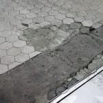 Schade vloer reinigingsbaan